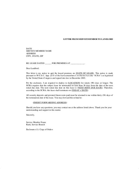 apartment lease termination letter 6 lease termination templates free sample example 20474 | Lease Termination Letter Template