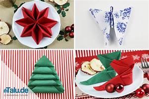 Dekorationsvorschläge Für Weihnachten : anleitung servietten falten f r weihnachten sterne ~ Lizthompson.info Haus und Dekorationen