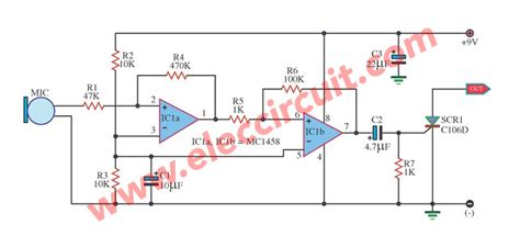 Sound Activated Switch Circuit With Pcb Eleccircuit