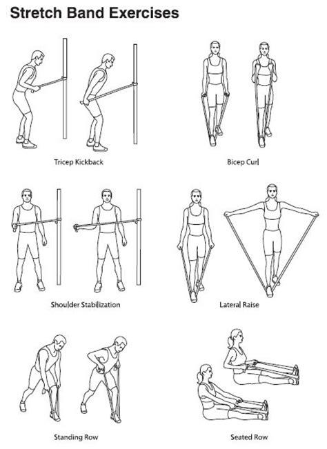 stretch band exercises on senior fitness band