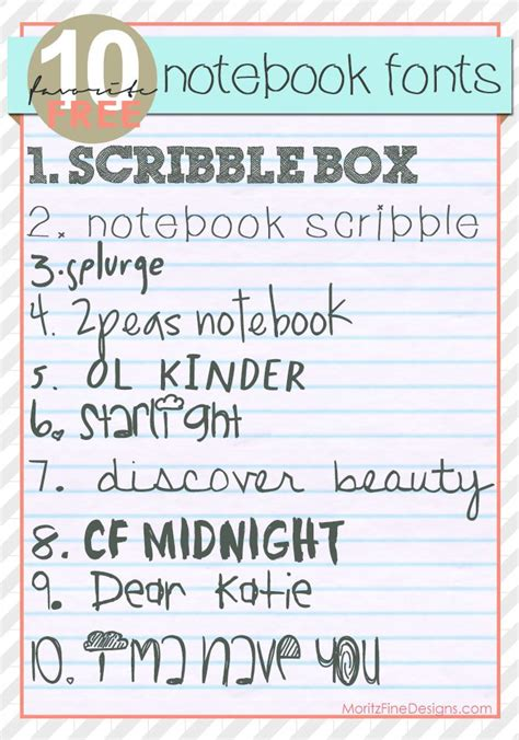font friday notebook fonts wwwmoritzfineblogdesignscom scrapbook fonts lettering
