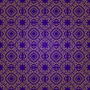 Abstract Purple Seamless Geometric Pattern Vector