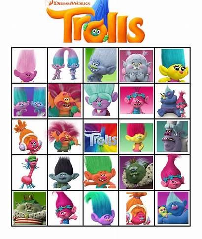 Trolls Bingo Printable Printables Cupcake Troll Party