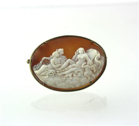 vintage shell cameo after the toilet of venus francois boucher 1749 from