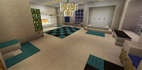 minecraft bathroom garden bath tub glass shower fireplace