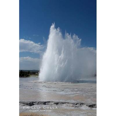 Great Fountain Geyser Photo Stock of