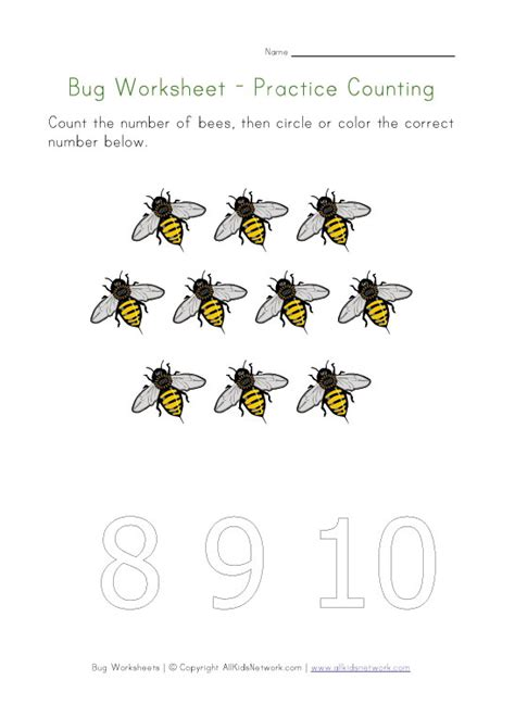 number names worksheets 187 bug worksheets free printable