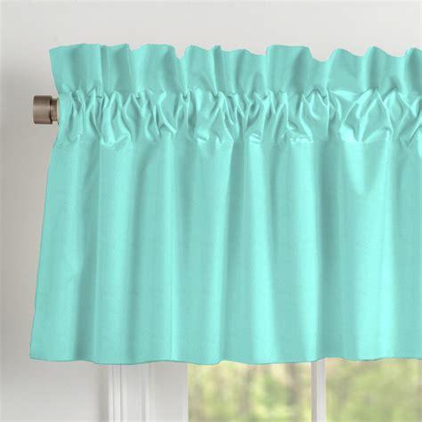 Teal Blue Window Valance solid teal window valance rod pocket carousel designs