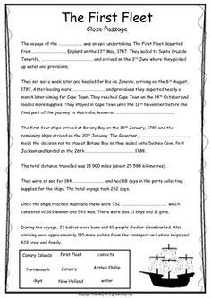 first fleet year 4 activities letter home google search