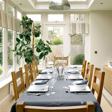 traditional cream dining room extension dining room