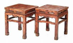 Price Guide For Pair Chinese Carved Yew Stools Early
