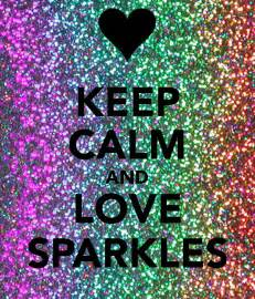 Keep Calm and Love Sparkles Pink