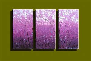 Compare prices on purple kitchen decor online shopping for Best brand of paint for kitchen cabinets with cherry blossom canvas wall art