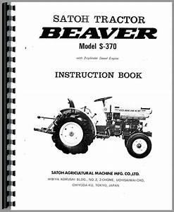 Satoh S370 Tractor Operators Manual