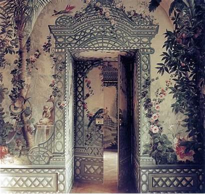 Surface Fragments Garden Painted Door Trellis Murals