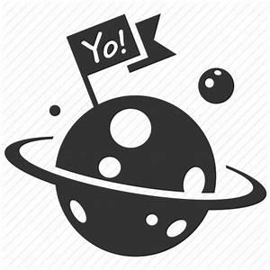 Asteroid, astro, astronomy, globe, moon, planet, star icon ...