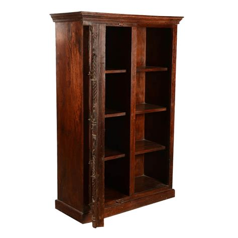 Wood Bookcase Cabinet by Elizabethan Classic Reclaimed Wood Wardrobe Bookcase Cabinet