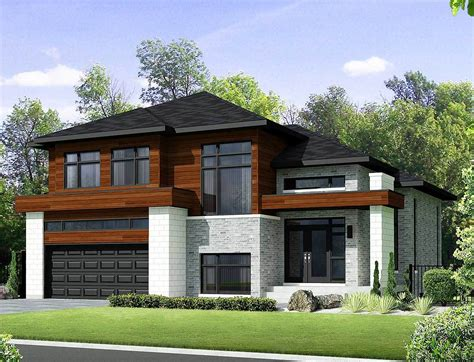 Two Story Contemporary House Plan 80851PM