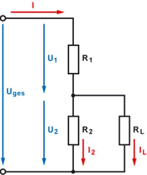 belasteten spannungsteiler berechnen mikrocontrollernet