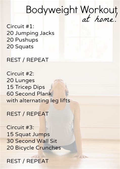 Beginner Bodyweight Home Workout  Shaping Up To Be A Mom