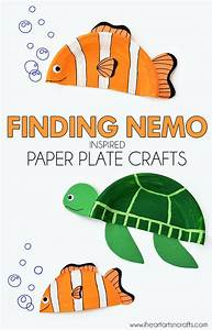 Finding Nemo Inspired Paper Plate Crafts - I Heart Arts n