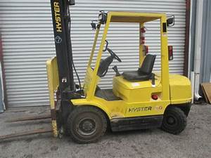 Hyster H50xm 5000lbs Diesel Forklift W   Sideshift 151