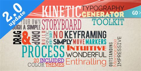 kinetic typography generator toolkit by signs09 videohive