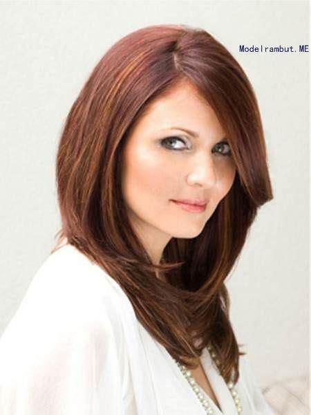 model potongan rambut  wajah bulat  pipi tembem