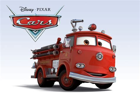 Red Fire Truck Deluxe #3 Disney Pixar Cars 2 Diecast Cars