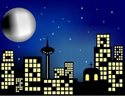 Night Clipart Clip Stormy Buildings Cliparts Clipground