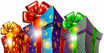Gift Christmas Clipart Boxes Packages Cliparts Gifts