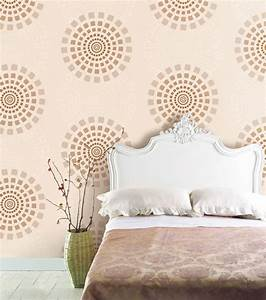 Modern circle wallpaper self adhesive vinyl home decor