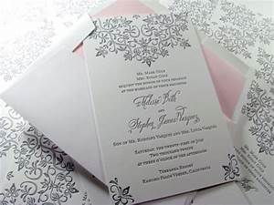 modern lace letterpress wedding invitation with cotton With l letterpress wedding invitations