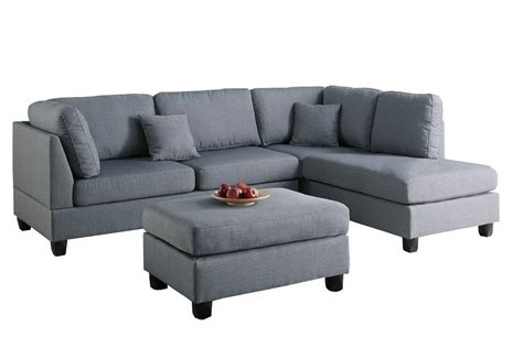 Modern Contemporary Polyfiber Fabric Sectional Sofa And