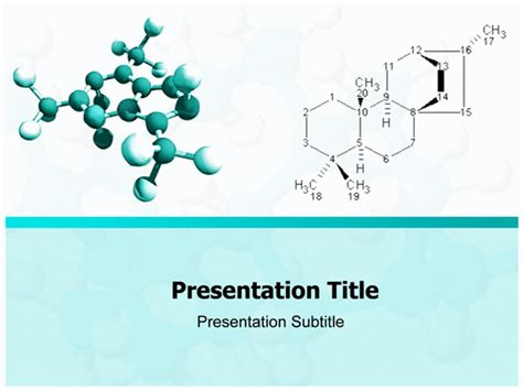 molecule powerpoint template powerpoint templates