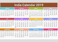 Free Printable Calendar 2019 With India Holiday January