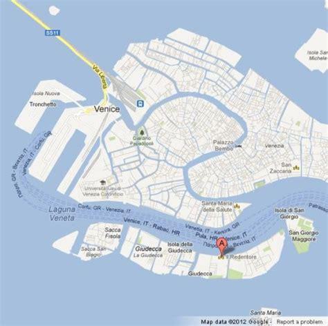 map redentore il venezia venice italy church location