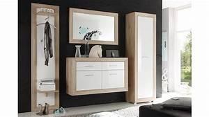 Garderobe Sonoma Eiche Weiß : garderobe fernando sonoma eiche mdf wei hochglanz 4 tlg ~ Bigdaddyawards.com Haus und Dekorationen