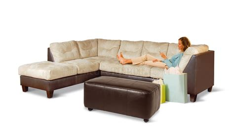 m chaise furniture brown leather sectional with