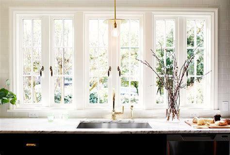 Kitchen Sink Under French Windows   Contemporary   Kitchen