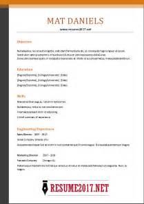 free functional resume template 2017 2017 resume format exles