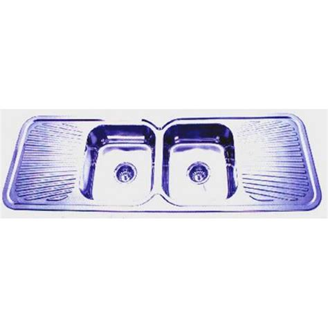 euro double bowl double drainer kitchen sink 1500x500mm