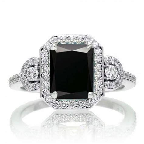 Fake Black Diamond Engagement Rings  Wedding And Bridal