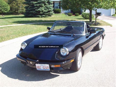 1986 Alfa Romeo by 1986 Alfa Romeo Spider Veloce Convertible 2 Door 2 0l