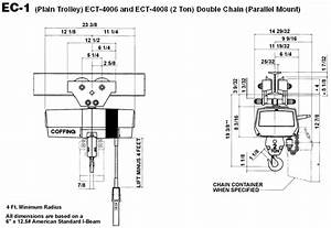 Coffing Hoists Wire Diagrams With Trolley