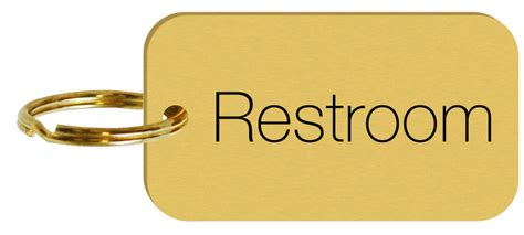 Brass Engraved Double Sided Restroom Key Tags Or Key