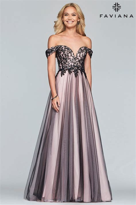 Faviana - S10290 | Pure Couture Prom | Off shoulder ...