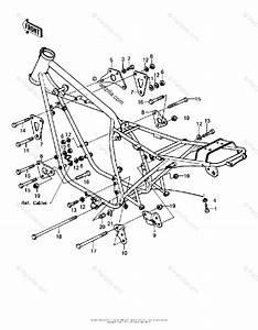 Kawasaki Motorcycle 1981 Oem Parts Diagram For Frame