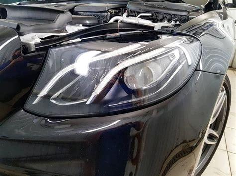 Mercedes E-class - бронирование передних фар антигравийной ...