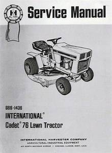 Cub Cadet Model 76 Service Manual Gss 1973